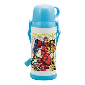 子供用水筒 特命戦隊ゴーバスターズ コップ付ステンレスボトル 370ml 保温 保冷 キャラクター colorfulbox
