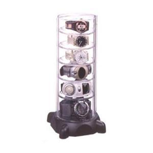 ●GーSHOCK対応のタワー型時計コレクションケースです。●縦型で場所をとらず、トレー5枚付で最大6...