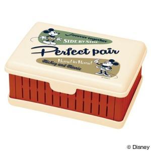 お弁当箱 折りたたみサンドイッチケース ミッキーマウス バッジコレクション ( サンドウィッチケース 1段 ランチボックス )|colorfulbox