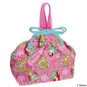 お弁当袋 ランチ巾着 ディズニープリンセス 子供用 キャラクター ( 給食袋 ランチボックス巾着 子供用お弁当袋 )