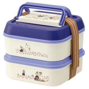 ピクニックランチボックス お弁当箱 2段 ムーミン お花畑 ランチプレート4枚付 ( ランチボックス ピクニックケース ドーム型 )|colorfulbox