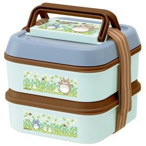 ピクニックランチボックス お弁当箱 2段 となりのトトロ そらいろ ランチプレート4枚付 ( ランチボックス ピクニックケース ドーム型 )|colorfulbox