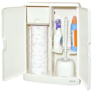トイレ収納ケース トイレラック Refrain ワイド型 ( トイレットペーパー 掃除道具 トイレ 収納 ストッカー )|colorfulbox