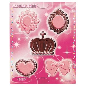 チョコレート型 ジュエリー チョコレートモールド 手作りチョコ ( チョコ型 抜き型 チョコレート 型 )