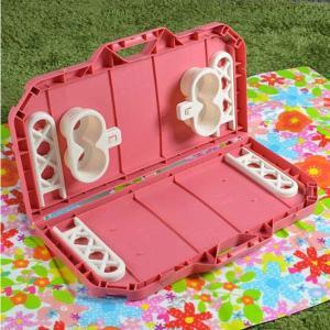 【ポイント最大26倍】ピクニックテーブル レジャーテーブル 連結可能 カップホルダー4人分付き ( 折りたたみ テーブル アウトドア )|colorfulbox|05