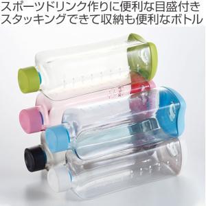 水筒 プラスチック ブロックスタイル アクアボトル 1L ウォーターボトル ( プラスチック製 スポーツボトル 直飲み ダイレクトボトル ) colorfulbox 02