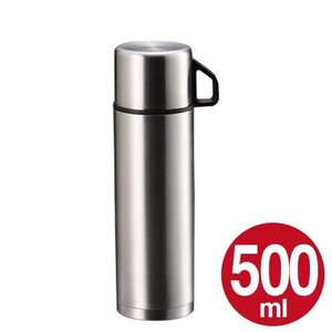 水筒 ステンレスボトル コップ付 500ml スタイルベーシック ( 保温 保冷 魔法瓶 )|colorfulbox