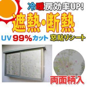 遮熱・断熱窓飾り 両面柄付 GCV-9271 92cm×90cm