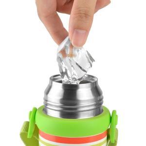 水筒 2WAY ボトル 480ml ステンレス製 スマイルピート 直飲み コップ付き ( 約 500ml 保冷 保温 機能付き ショルダーベルト付き ) colorfulbox 04