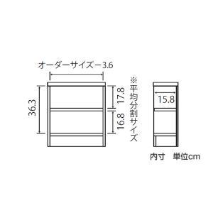オーダー本棚 壁面収納 オーダーラック 標準棚板タイプ 幅45-59cm 奥行19cm 高さ49cm ( 本棚 オーダー オーダーメイド 収納棚 )|colorfulbox|03