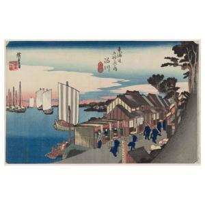 品川 歌川広重(東海道五十三次) 手漉き和紙塗り絵 西嶋和紙|colorof
