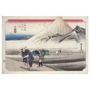 原 歌川広重(東海道五十三次) 手漉き和紙塗り絵 駿河柚野紙|colorof