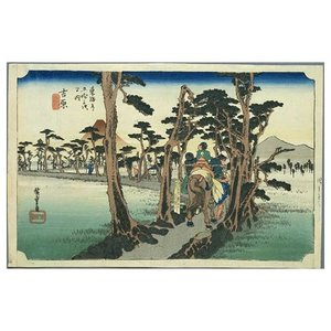 吉原 歌川広重(東海道五十三次) 手漉き和紙塗り絵 駿河柚野紙|colorof