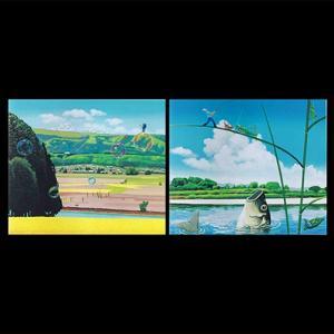 飯山三十六景から「菜の花公園×巨鯉を釣る」 手漉き和紙塗り絵 セット商品 内山紙|colorof