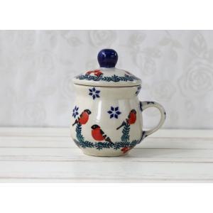 【再】ポーリッシュポタリー (ポーランド食器)蓋つきエスプレッソカップCUP& LID  F107-GILE|colorpage