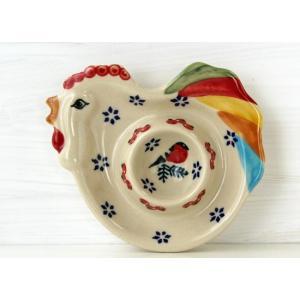 【NEW】ポーリッシュポタリー(ポーランド食器)エッグスタンドJ60-GILE|colorpage