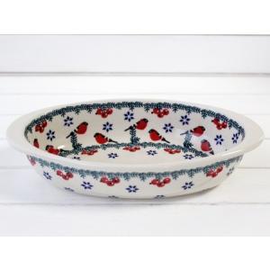 【NEW】ポーリッシュポタリー (ポーランド食器) オーバルグラタン皿M | P149-GILE|colorpage