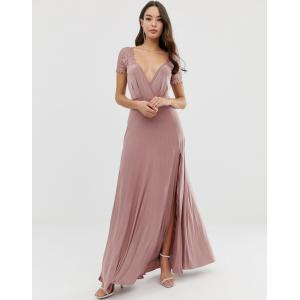 faa664a247f92 エイソス マキシドレス レディース ASOS DESIGN Scallop Lace Top Pleated Maxi Dress エイソス ASOS