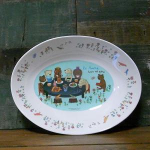 くまのルー LOU et COU カレー皿 パスタ皿 パーティー メラミン食器|colors-kitchen