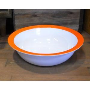 ロスティメパル ウェーブボウル 深皿 オレンジ|colors-kitchen