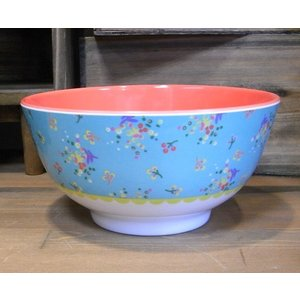 ライス ボウル 深皿 小花 ライトブルー rice|colors-kitchen