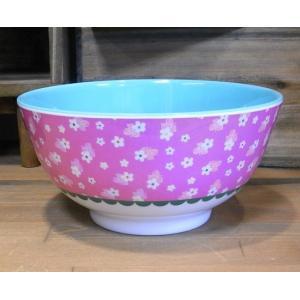 ライス ボウル 深皿 小花 ピンク rice|colors-kitchen