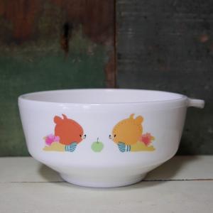 がんばれ!ルルロロ 茶碗 深皿 くまのがっこう 子供食器|colors-kitchen