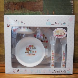 anano cafe ベビー食器 5点セット アナノカフェ 出産祝い ギフトセット|colors-kitchen