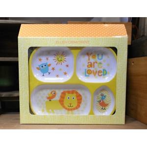 エレンクリミトレント ベビー食器 5点セット 出産祝い ライオン メラミン食器|colors-kitchen