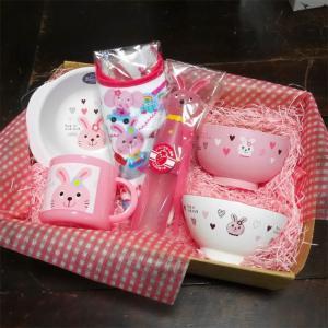 Rub a dub dub ウサギ ベビー食器 6点セット ラブアダブダブ ギフトセット 出産祝い|colors-kitchen