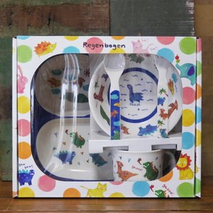 DECOLE デコレ メラミンランチ5pcs ギフトセット Regenbogen きょうりゅう メラミン食器|colors-kitchen