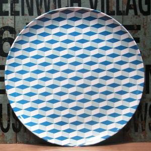 バッカー メラミン製 大皿 Bakker made with love ブルー|colors-kitchen