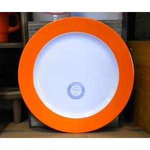 メラミン製 大皿 ロスティメパル ブレックファーストプレート オレンジ|colors-kitchen