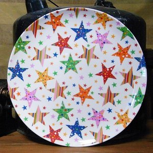メラミン製 大皿 JABデザイン  カラフルスター|colors-kitchen
