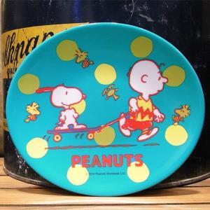 スヌーピー SKATEBOARD メラミンオーバルプレート 中皿|colors-kitchen
