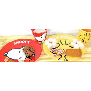 スヌーピー BASEBALL メラミンオーバルプレート 中皿 colors-kitchen 02