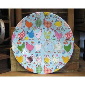 rice メラミン食器 中皿 ライス ニワトリ|colors-kitchen