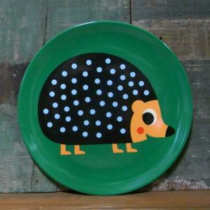 メラミン食器 中皿 ハリネズミ OMM-design メラミンプレート Hedgehog colors-kitchen