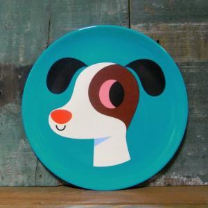 メラミン食器 中皿 ドッグ OMM-design メラミンプレート Dog colors-kitchen