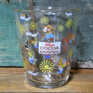ケロッグ ガラスタンブラー サム&ココくん Kellogg's グラス コップ|colors-kitchen