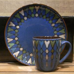 ブリスフルテーブルウェア マグカップ&プレート セット ブルー 北欧スタイル|colors-kitchen