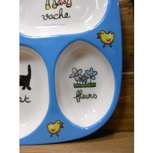 ラシェーズロング キッズランチプレート ファーム メラミン食器 colors-kitchen 05