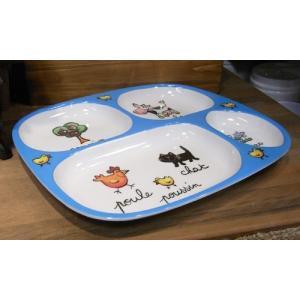 ラシェーズロング キッズランチプレート ファーム メラミン食器 colors-kitchen 06