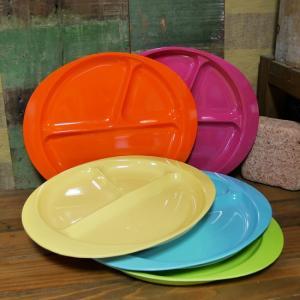 メラミン ランチプレート 仕切り皿 メラミン食器|colors-kitchen