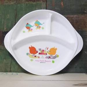 がんばれ!ルルロロ ランチ皿 ランチプレート くまのがっこう 子供食器|colors-kitchen