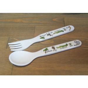 ラシェーズロング スプーン フォーク ジャングル メラミン食器|colors-kitchen