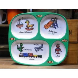 ラシェーズロング キッズランチプレート ロボ メラミン食器|colors-kitchen