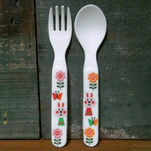 DECOLE デコレ スプーン&フォーク  aurinko アウリンコ うさぎ メラミン食器|colors-kitchen