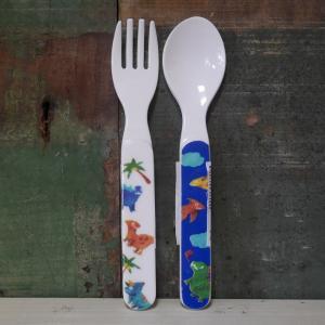 DECOLE デコレ スプーン&フォーク Regenbogen きょうりゅう メラミン食器|colors-kitchen