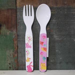 DECOLE デコレ スプーン&フォーク Regenbogen おはな メラミン食器|colors-kitchen
